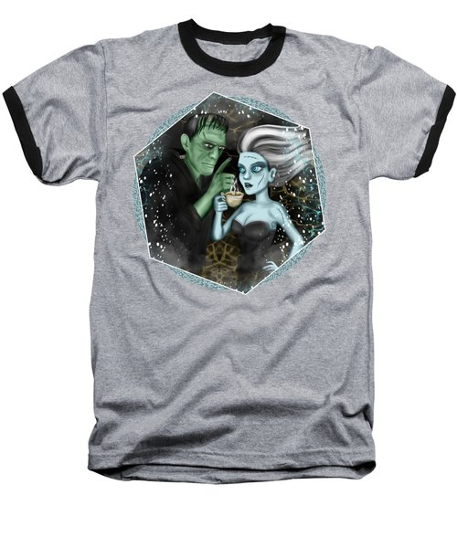 Baseball T-Shirt featuring the painting Frankenstien Fantasy Art by Raphael Lopez