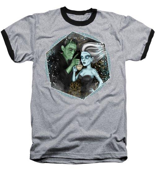 Frankenstien Fantasy Art Baseball T-Shirt