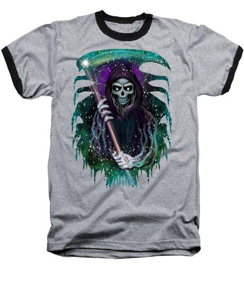 Galaxy Grim Reaper Fantasy Art Baseball T-Shirt