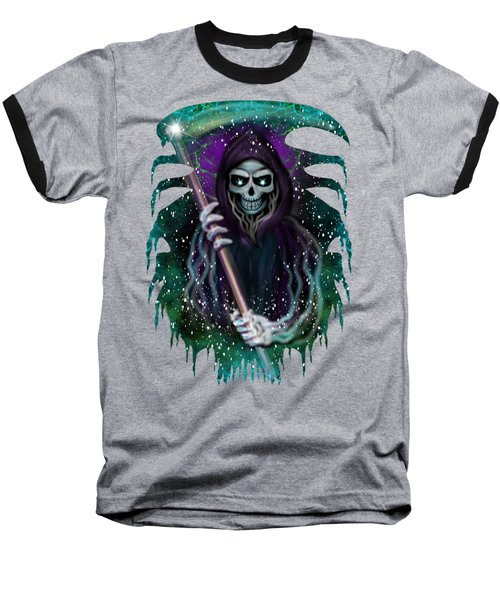 Galaxy Grim Reaper Fantasy Art Baseball T-Shirt