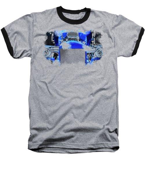 Blue Roadster Baseball T-Shirt