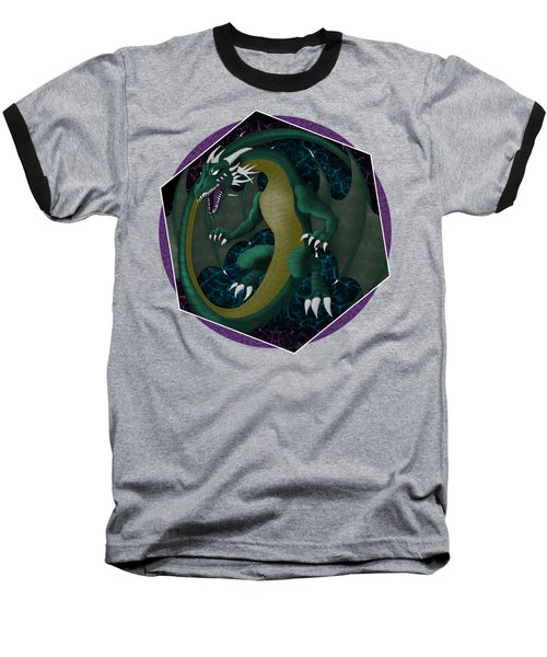 Electric Portal Dragon Baseball T-Shirt