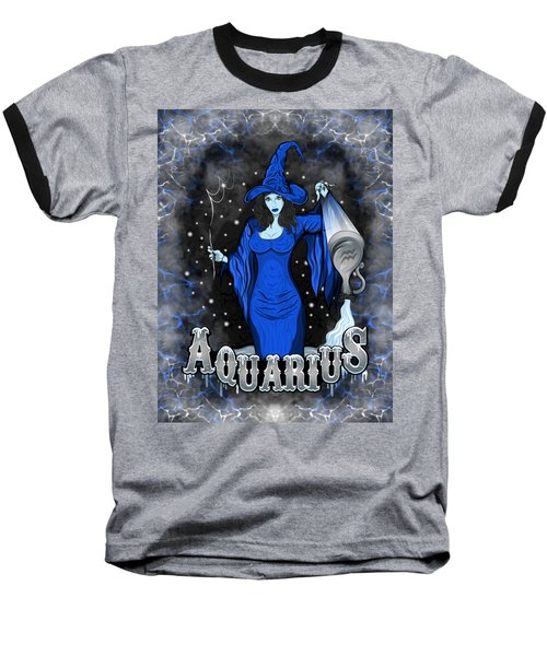 The Water Bearer Aquarius Spirit Baseball T-Shirt