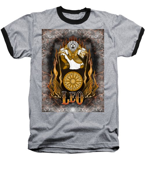 The Lion Leo Spirit Baseball T-Shirt