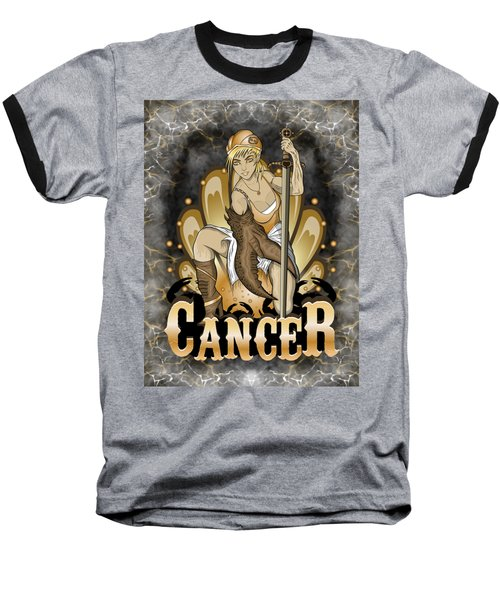 The Crab Cancer Spirit Baseball T-Shirt