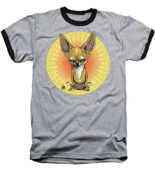 Meditating Chihuahua Baseball T-Shirt