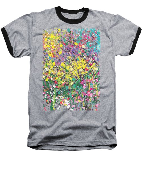 Flower Bed Abstract Baseball T-Shirt