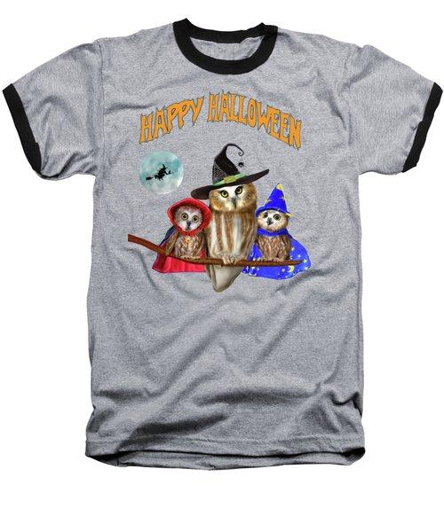 Happy Halloween From Owl Of Us Baseball T-Shirt