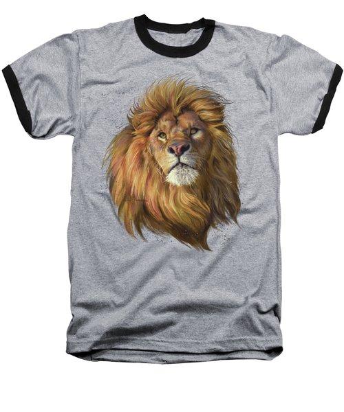 African Lion Baseball T-Shirt