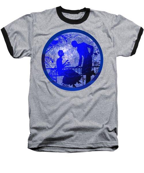 Blue Moonlight Lovers Baseball T-Shirt