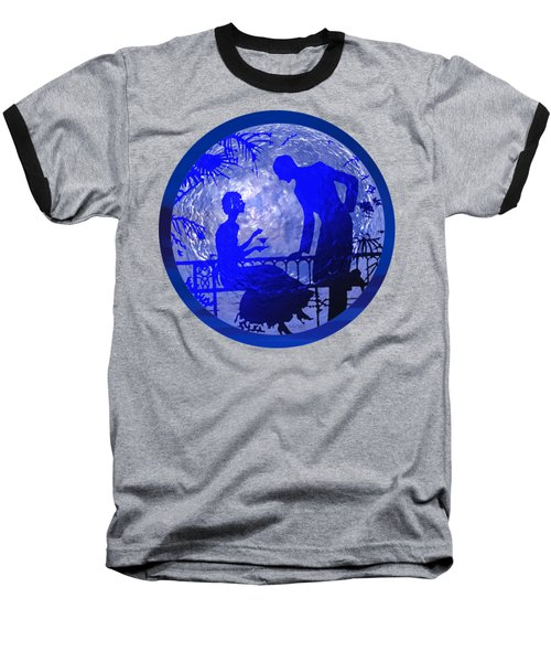 Blue Moonlight Lovers Baseball T-Shirt