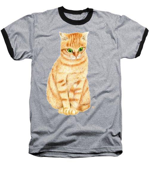 A Ginger Tabby Cat Baseball T-Shirt
