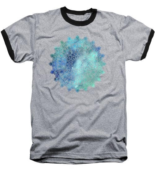 Watercolor Om Shaanti Yoga Opening Prayer Mandala Baseball T-Shirt
