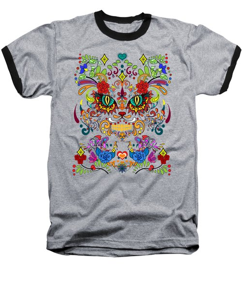 Dia De Los Gatos  Baseball T-Shirt