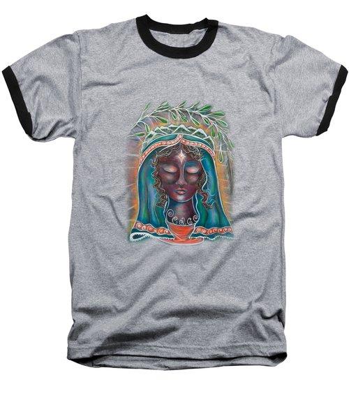 Peace - Black Madonna Baseball T-Shirt