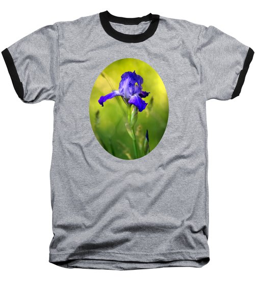 Baseball T-Shirt featuring the photograph Violet Iris by Christina Rollo