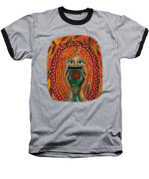 OM Baseball T-Shirt by Deborha Kerr