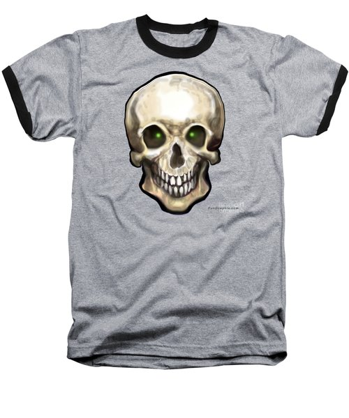 Baseball T-Shirt featuring the painting Skull by Kevin Middleton