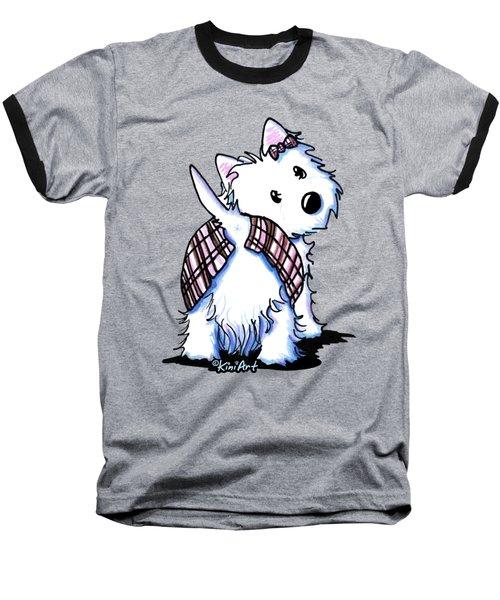 Dressed To Kilt Westie Baseball T-Shirt