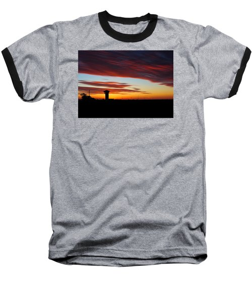 Sunrise Over Golden Spike Tower Baseball T-Shirt