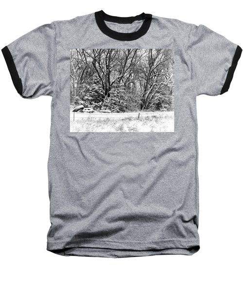 Three Tires And A Snowstorm Baseball T-Shirt by Bill Kesler