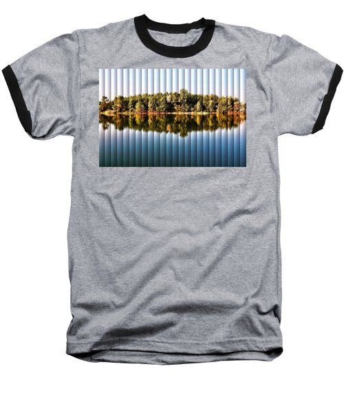 When Nature Reflects - The Slat Collection Baseball T-Shirt by Bill Kesler