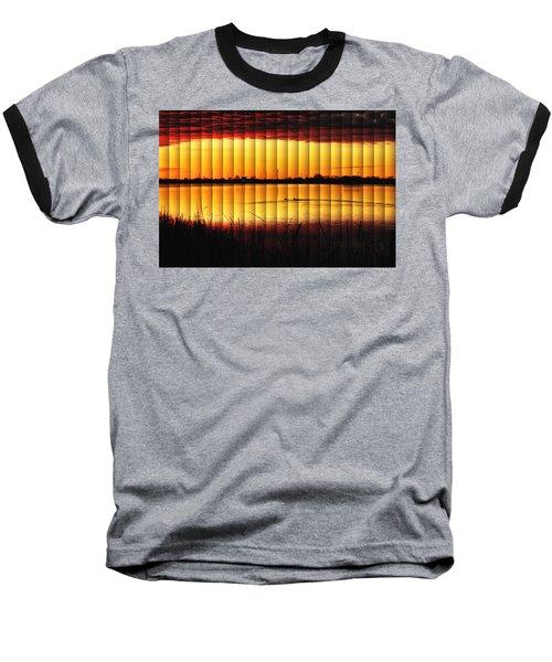 Magnificent Sunrise Swim Baseball T-Shirt