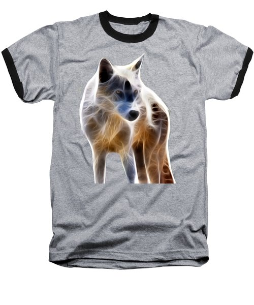 Glowing Wolf Baseball T-Shirt
