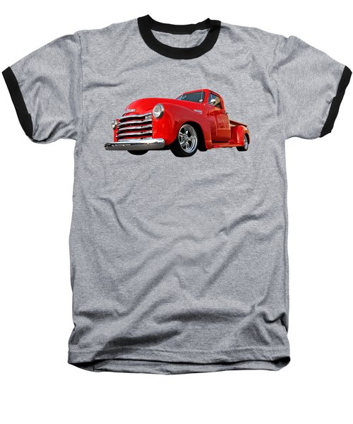 1952 Chevrolet Truck At The Diner Baseball T-Shirt by Gill Billington