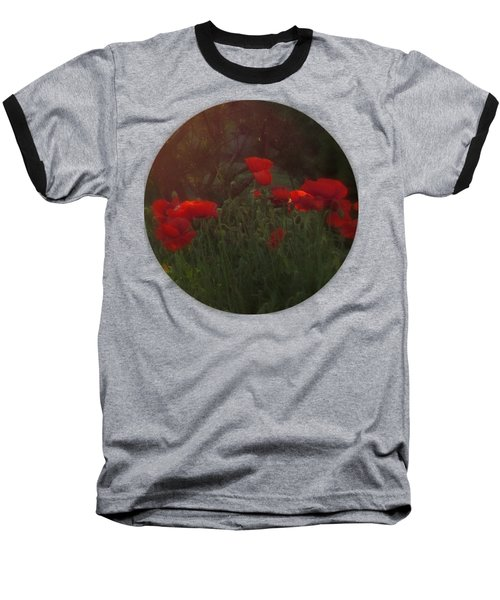 Sunset In The Poppy Garden Baseball T-Shirt