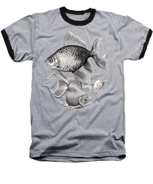 Goldfish Baseball T-Shirt by Sarah Batalka