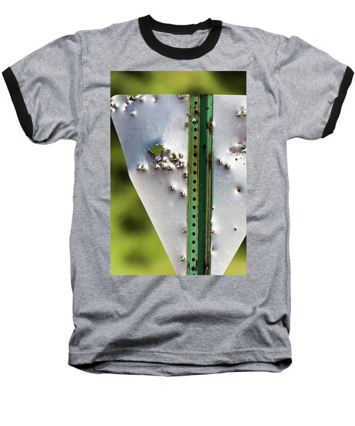 Bullet Hole Yield Baseball T-Shirt