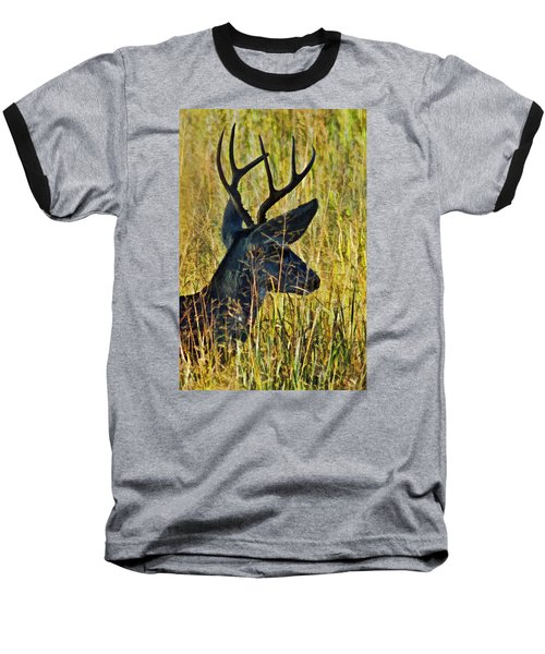 The Buck Rests Here Baseball T-Shirt by Bill Kesler