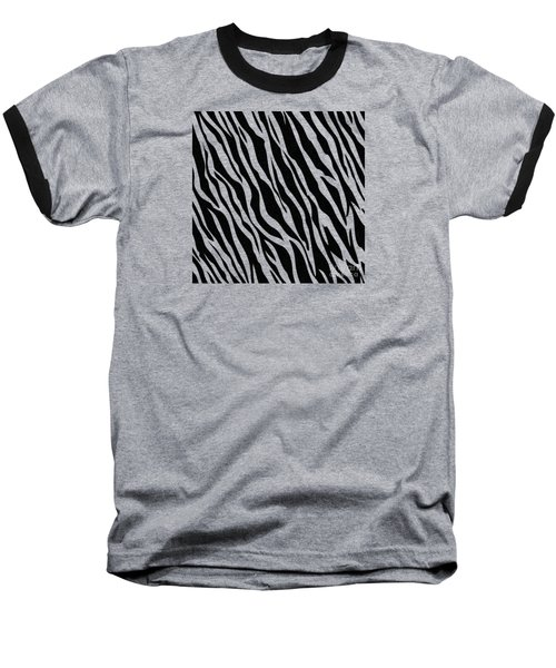 Tiger On White Baseball T-Shirt by Mark Rogan