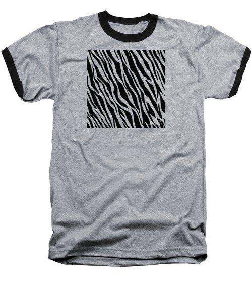 Tiger On White Baseball T-Shirt