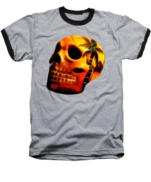 Glowing Skull Baseball T-Shirt
