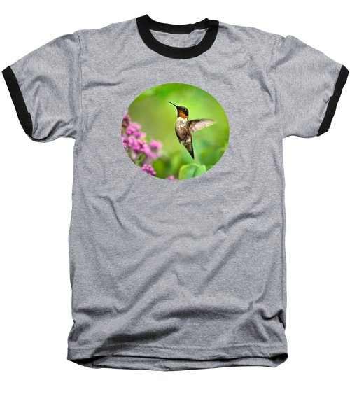 Welcome Home Hummingbird Baseball T-Shirt by Christina Rollo
