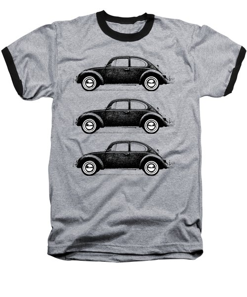 Think Small Baseball T-Shirt by Mark Rogan