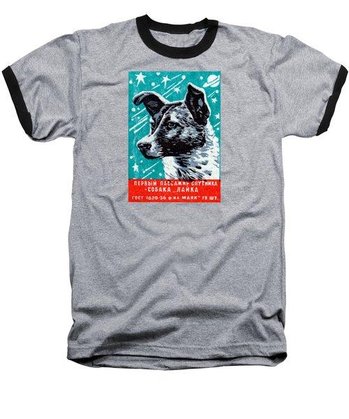 1957 Laika The Space Dog Baseball T-Shirt by Historic Image
