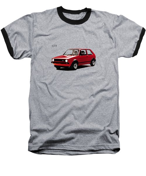 Vw Golf Gti 1976 Baseball T-Shirt by Mark Rogan