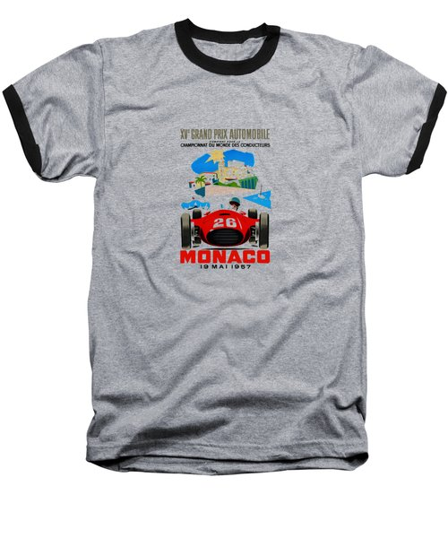 Monaco 1957 Baseball T-Shirt by Mark Rogan