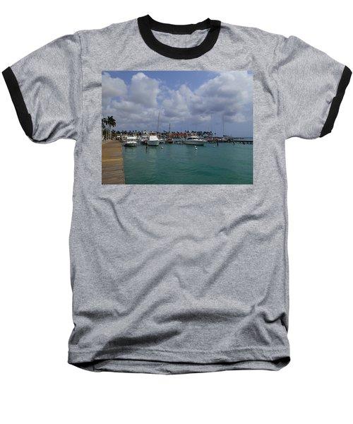 Aruba Marina Baseball T-Shirt by Lois Lepisto