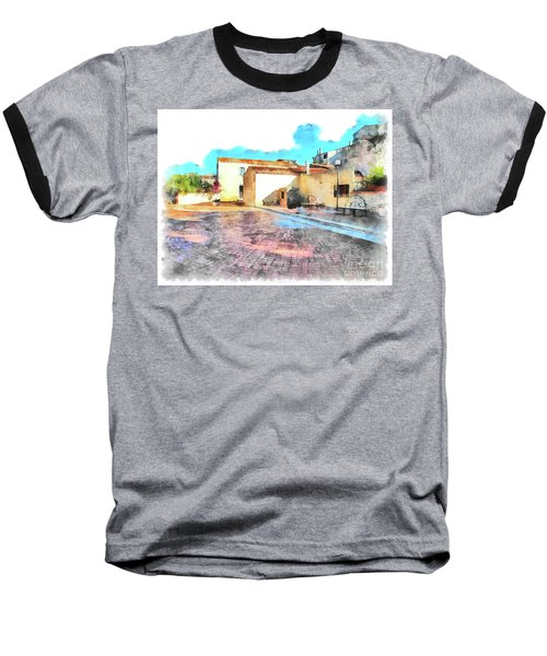 Arzachena Church Square Snow Madonna Baseball T-Shirt
