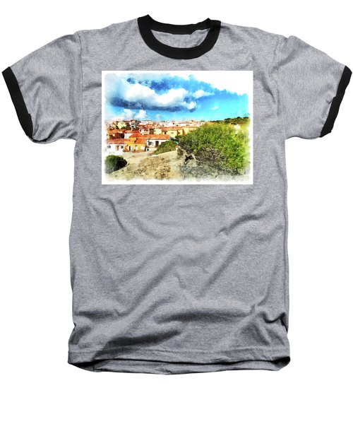 Arzachena Landscape With Clouds Baseball T-Shirt