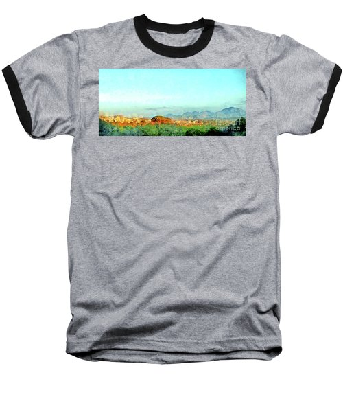 Arzachena Landscape With Mountains Baseball T-Shirt