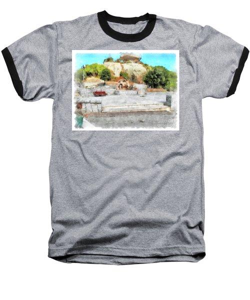 Arzachena Mushroom Rock With Children Baseball T-Shirt