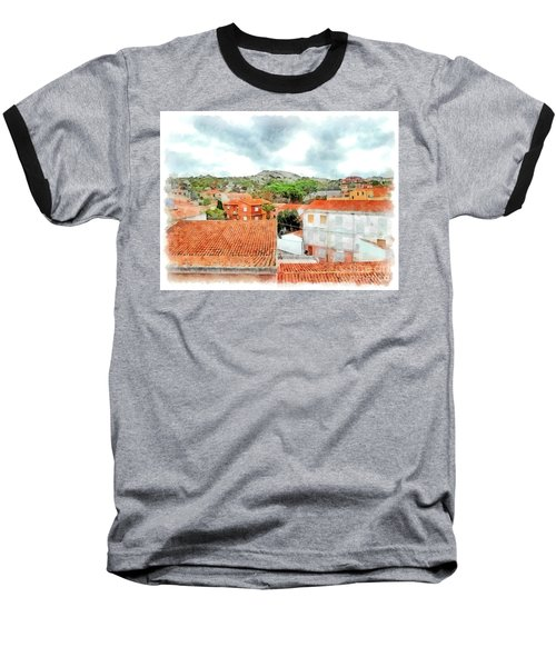 Arzachena Urban Landscape With Mountain Baseball T-Shirt
