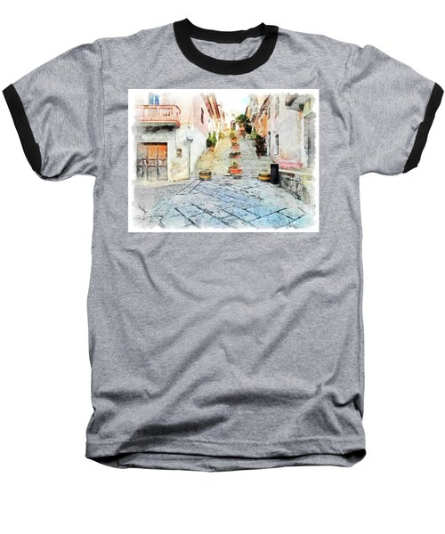 Arzachena View Staircase And Church Baseball T-Shirt