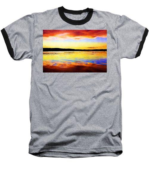 As Above So Below - Digital Paint Baseball T-Shirt