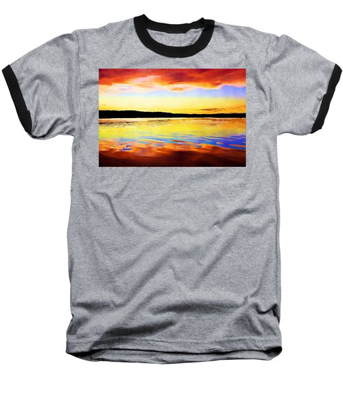 As Above So Below - Digital Paint Baseball T-Shirt
